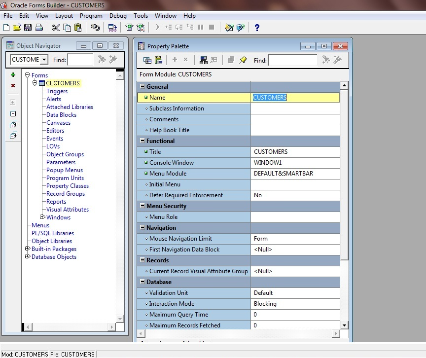 Picture 2: Change Module Name in Oracle Forms 11g